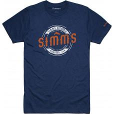 Футболка Simms Wader MT T Shirt Navy Heather
