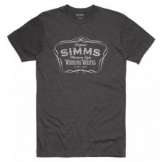 Футболка Simms Montana Style T-Shirt Charcoal