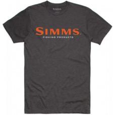 Футболка Simms Logo T Shirt Charcoal Heather