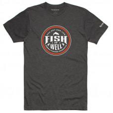Футболка Simms Fish It Well T-Shirt Charcoal Heather