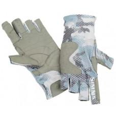 Перчатки Simms SolarFlex Guide Glove Hex Flo Camo Grey Blue
