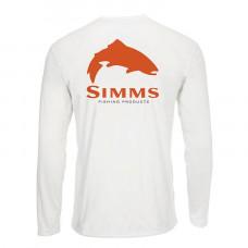 Блуза Simms Solar Tech Tee Trout Logo White