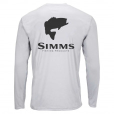 Блуза Simms Solar Tech Tee Bass Logo Sterling