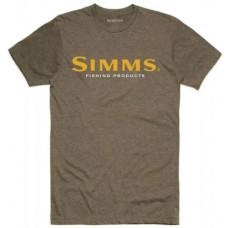 Футболка Simms Logo T Shirt Olive Heather