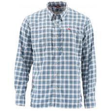 Рубашка Simms BugStopper Shirt Plaid Faded Denim Plaid