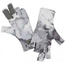 Перчатки Simms SolarFlex Sunglove Cloud Camo Grey