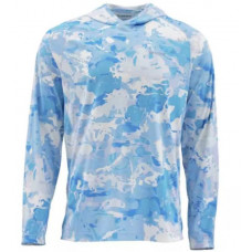 Блуза Simms SolarFlex Hoody Print Cloud Camo Blue