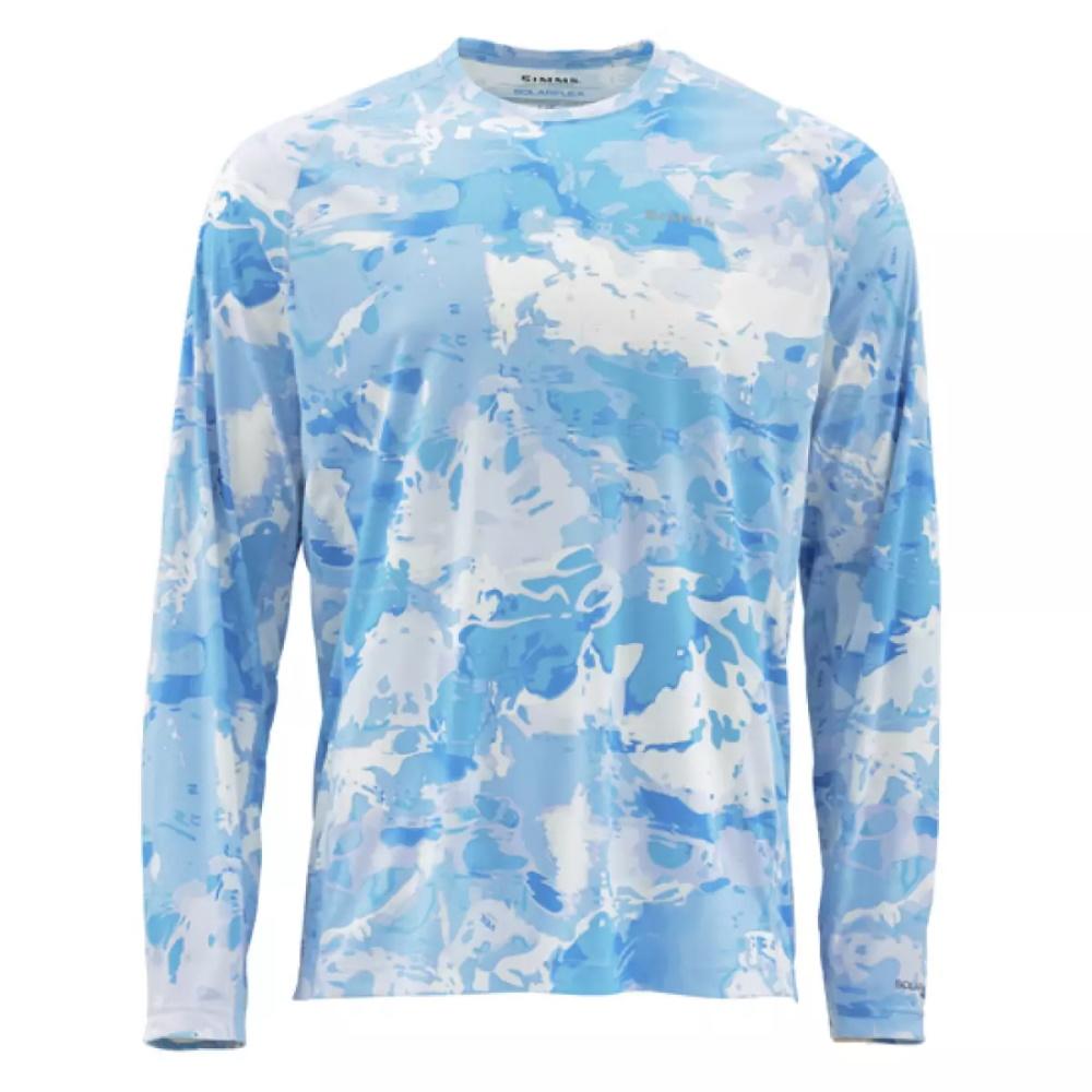 Блуза Simms SolarFlex Crewneck Prints Cloud Camo Blue